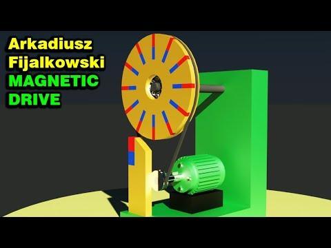 FREE ENERGY, Arkadiusz Fijalkowski Magnetic Drive, Magnetic Motor!!!!