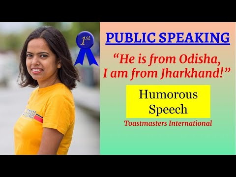 Kriti Prajapati - Toastmasters District 98 - Humorous Speech Contest 2015 - First Place