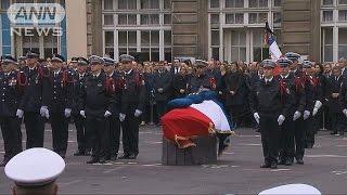 テロで死亡の警察官を追悼 仏大統領選の2候補も(17/04/26)