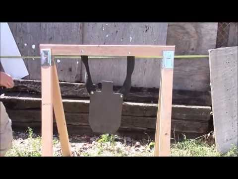 "Cheap, easy, take down stand for steel targets and ""rubber chains"""
