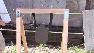 Cheap, easy, take down stand for steel targets and rubber chains