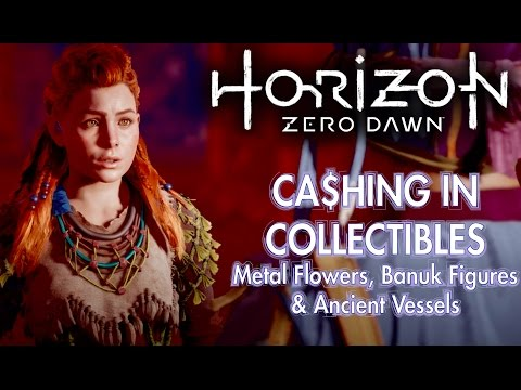 Horizon Zero Dawn - Trading Your Collectables At Meridian Metal Flowers, Banuk & Ancient Vessels