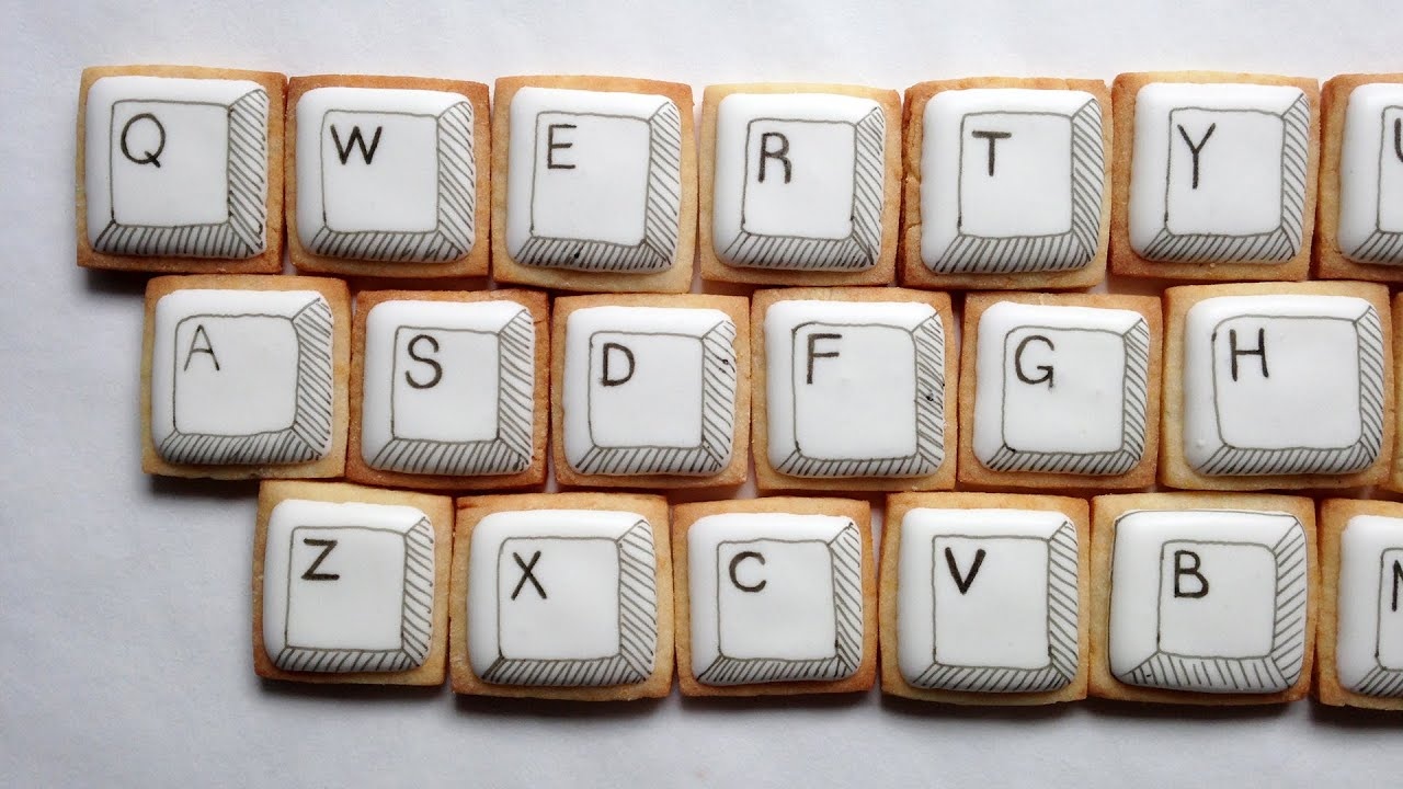 How to decorate computer keyboard cookies youtube for Decorate my photo
