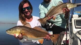 Sight casting redfish on Mobile Bay w/ Soulfishingash and Ugly Fishing