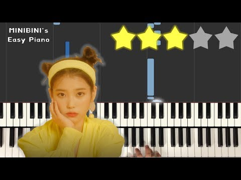 IU (아이유) - BBIBBI (삐삐) 《MINIBINI EASY PIANO ♪》 ★★★☆☆ [Sheet]