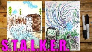 Рисуем Аномалию из S.T.A.L.K.E.R.(Ваня любит видео игру Сталкер и мы решили сделать серию рисунков и роликов на тему Сталкера. Мы рисуем на..., 2016-02-12T07:53:28.000Z)
