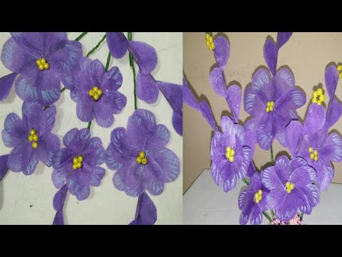 how to make paper flower diy.wrapping paper craft.R-han creation.