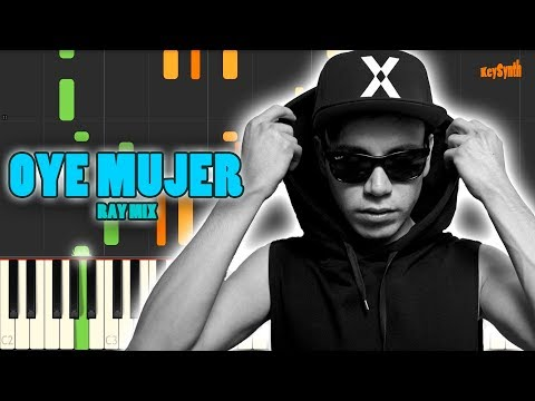 Oye Mujer - Raymix - Piano - Cover - Tutorial - Synthesia - Keysynth