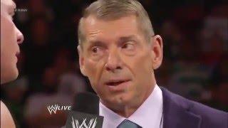 Brock Lesnar destroys the Chairman!