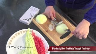 Video Instruction - PeeĮing And Julienne Onion-Potato.