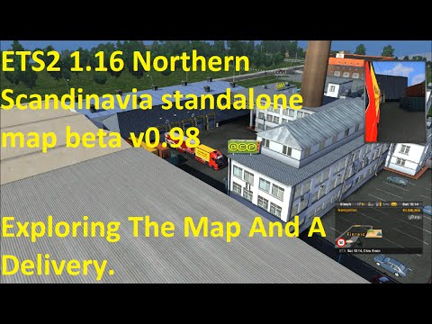 ETS2 1.16 Northern Scandinavia standalone map beta v0.98 Explore & Delivery