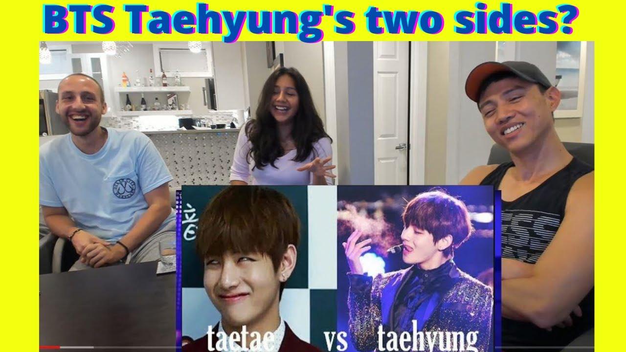 BTS TAE TAE Vs Taehyung - Two Sides of Kim Taehyung   BTS V Moments   reaction