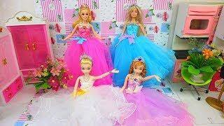 ĐỒ MỚI MUA 20.10 - búp bê thử váy công chúa lộng lẫy nhiều màu sắc- phụ kiện và giày Ami DIY