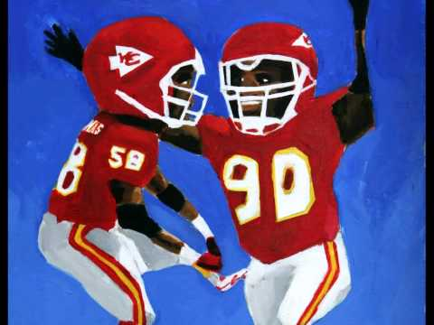 Painting of Derrick Thomas and Neil Smith, Kansas City Chiefs