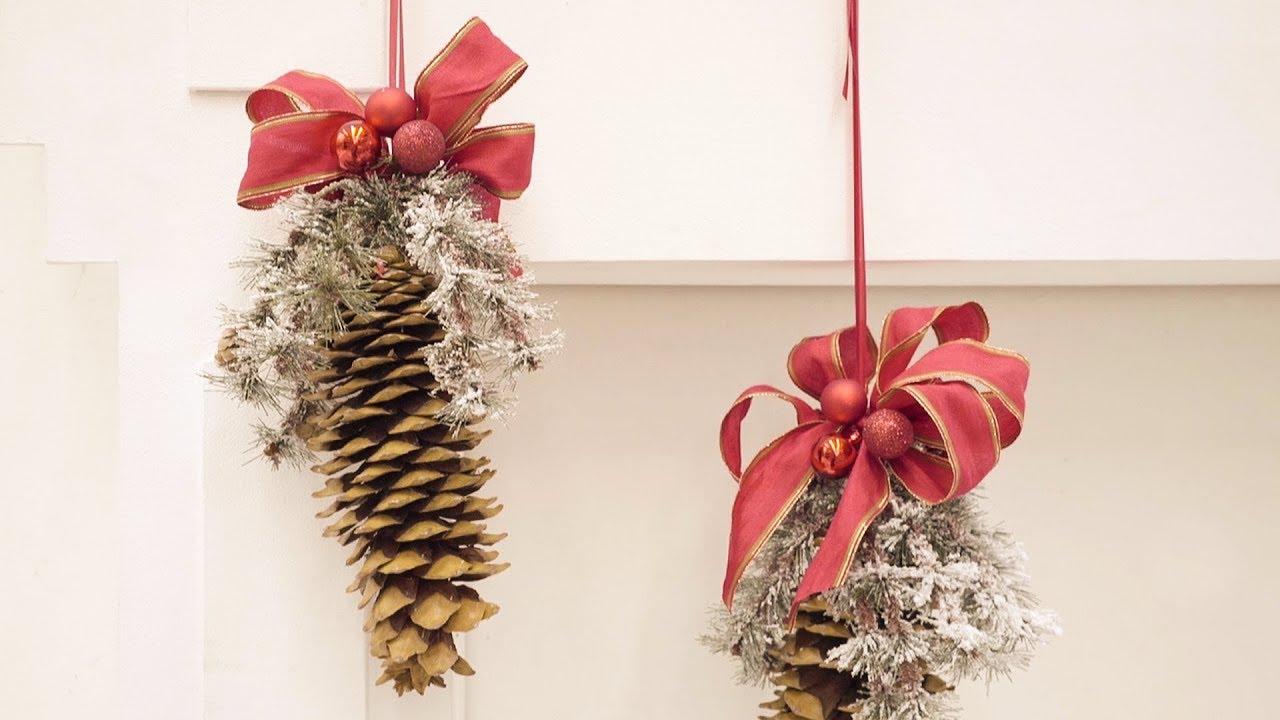 Palline Di Natale Con Rametti tendenze natale 2017, decoriamo con i nastri: le pigne