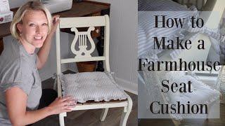 How to Make a Farmhouse Chair Cushion | Farmhouse sewing project | Farmhouse DIY