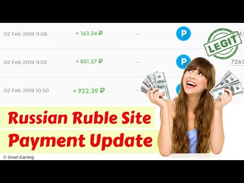 Russian Ruble Payment Proof & Earning Site Update