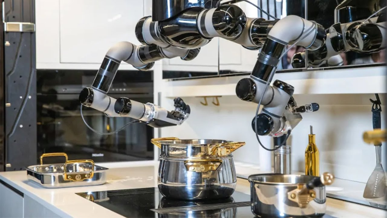 Kitchen Robot That Will Cook Meals From Scratch Unveiled Youtube