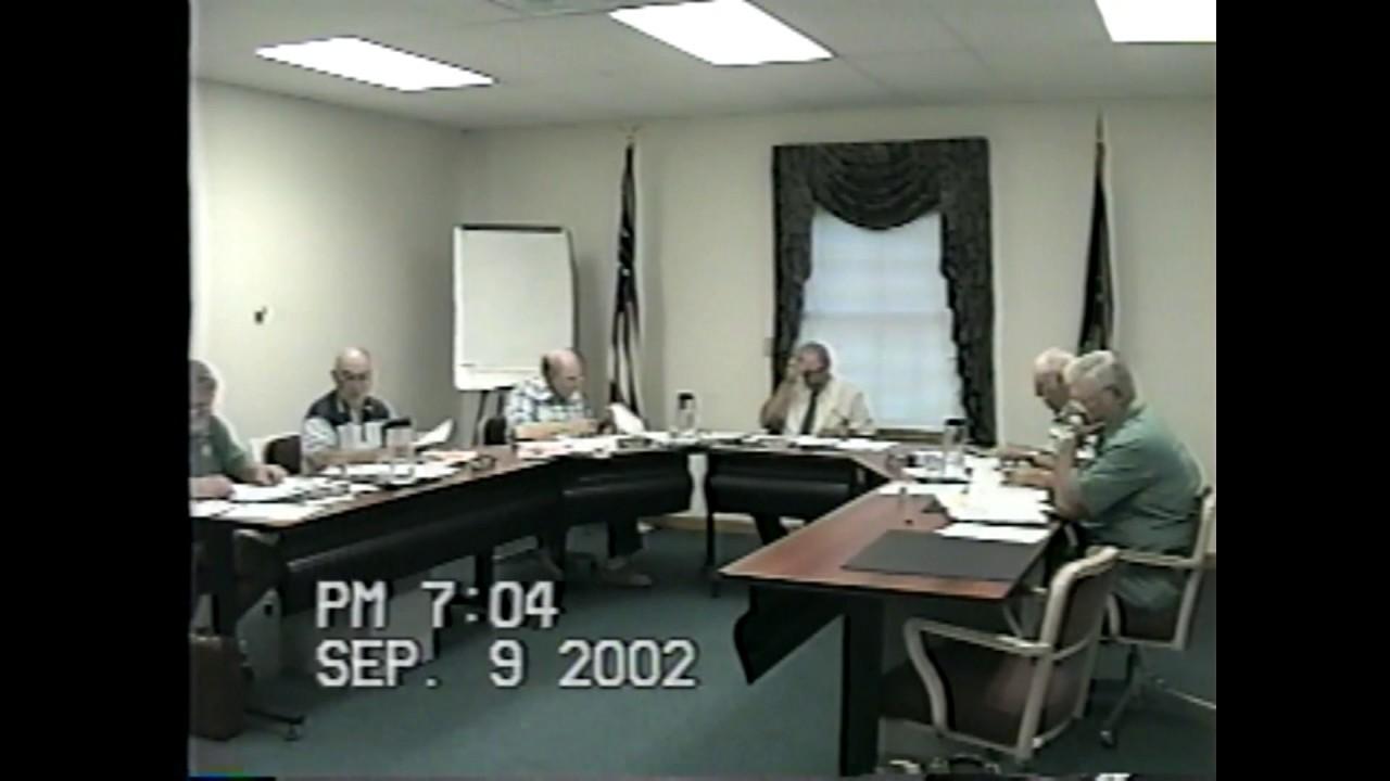 Champlain Town Board Meeting  9-9-02