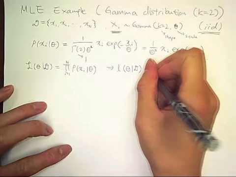 Maximum Likelihood Expectation (4/6): gamma distribution