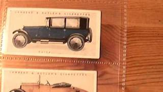 Classic 1920's Motor Cars On Cards - Lanchester,Buick,Morris