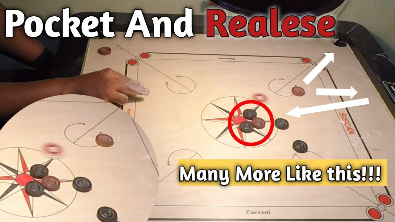 Carrom Board Tricks | Pocket And Release Strokes 🔥 🔥 🔥  |