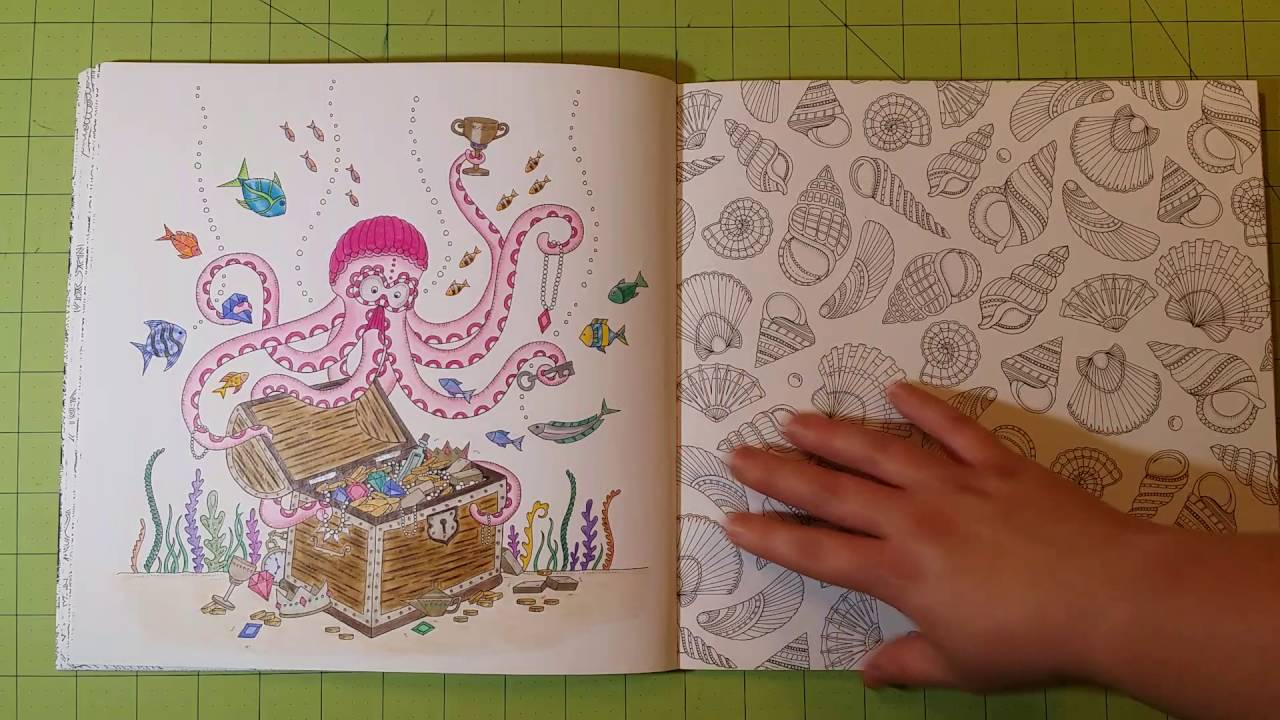The Lost Ocean By Johanna Basford Adult Coloring Book Review Flip Through