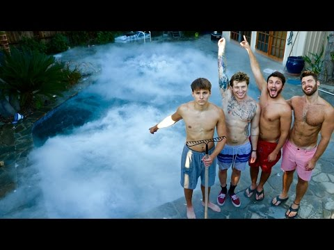 SWIMMING WITH 1,400 POUNDS OF DRY ICE!!