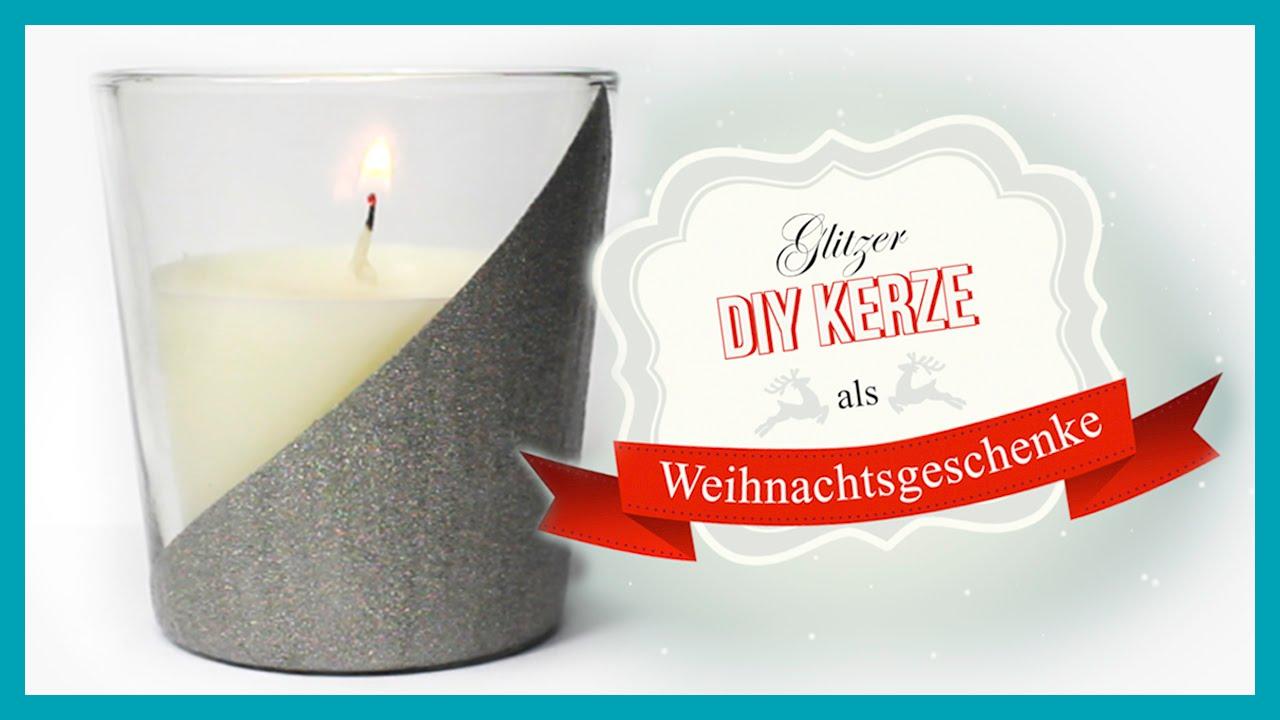 DIY Glitzer Kerze | Weihnachtsgeschenke mit Nagellack ❅❤❅ - YouTube