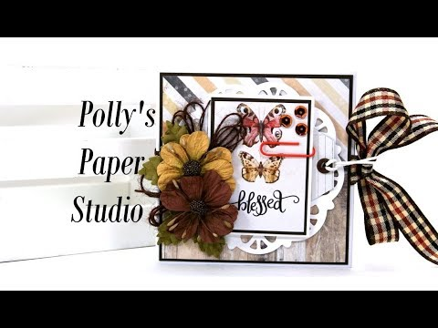 Vintage Blessed Mini Flip Scrap Book Polly's Paper Studio Prima Tutorial DIY Process Flowers Ribbon