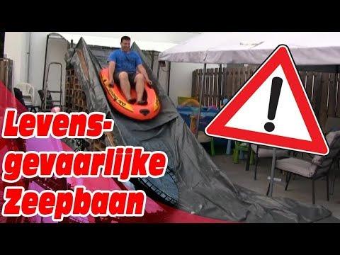 PAPA BOUWT LEVENSGEVAARLIJKE ZEEPBAAN IN TUIN VOOR ONS !!! - KOETLIFE VLOG #430