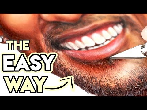 How to Draw Realistic Facial Hair | EASIER THAN YOU THINK!