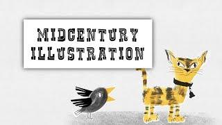 Mid Century Style Illustration in Procreate