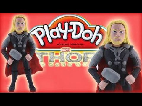Play Doh Thor: How To Make  Marvel Thor Play Dough