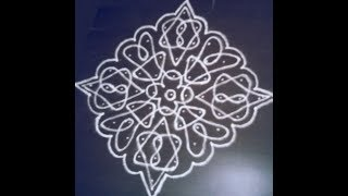 11 Pulli Kolam | Step by Step Kolam | Simple Kolam Design |  Easy Kolam Design