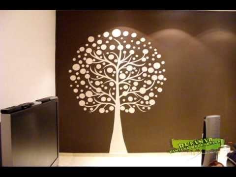 Pintura decorativa xalapa veracruz youtube - Pinturas decorativas para salones ...