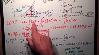 Statics Sample Quiz #3   Centroids by Integration