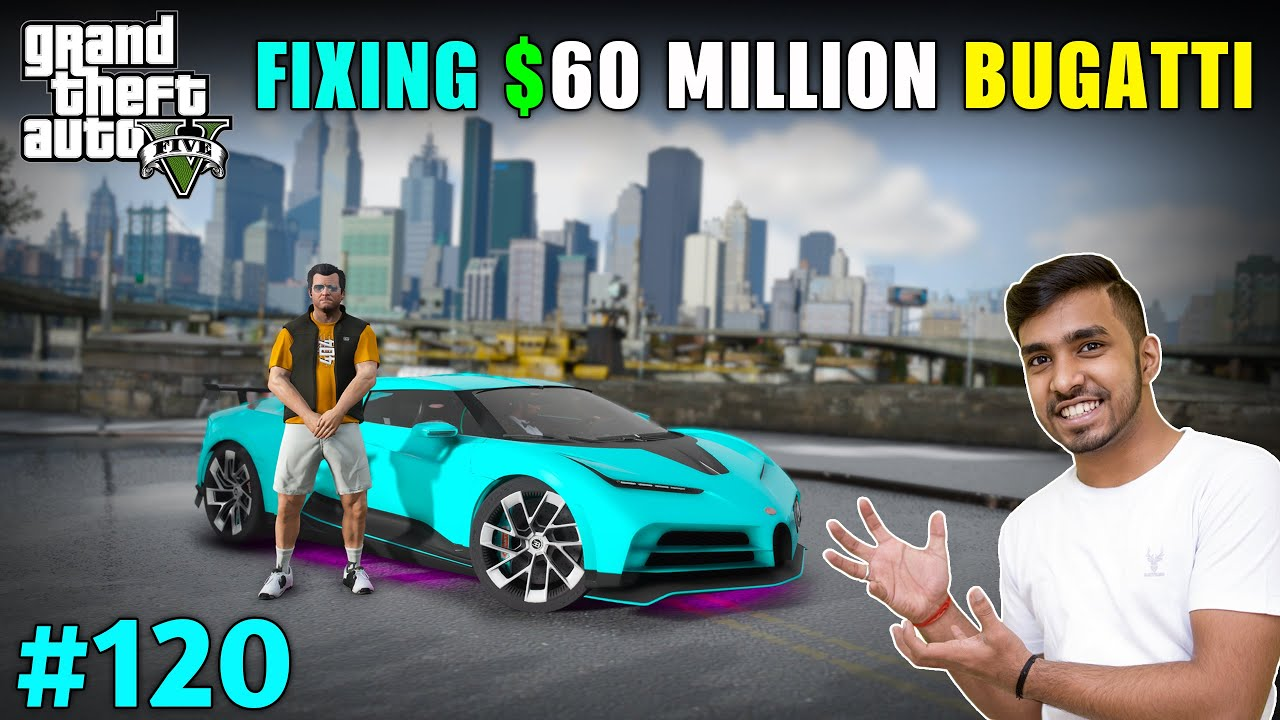 REPAIR & DELIVER CRASHED BUGATTI TO LIBERTY CITY | GTA V GAMEPLAY #120