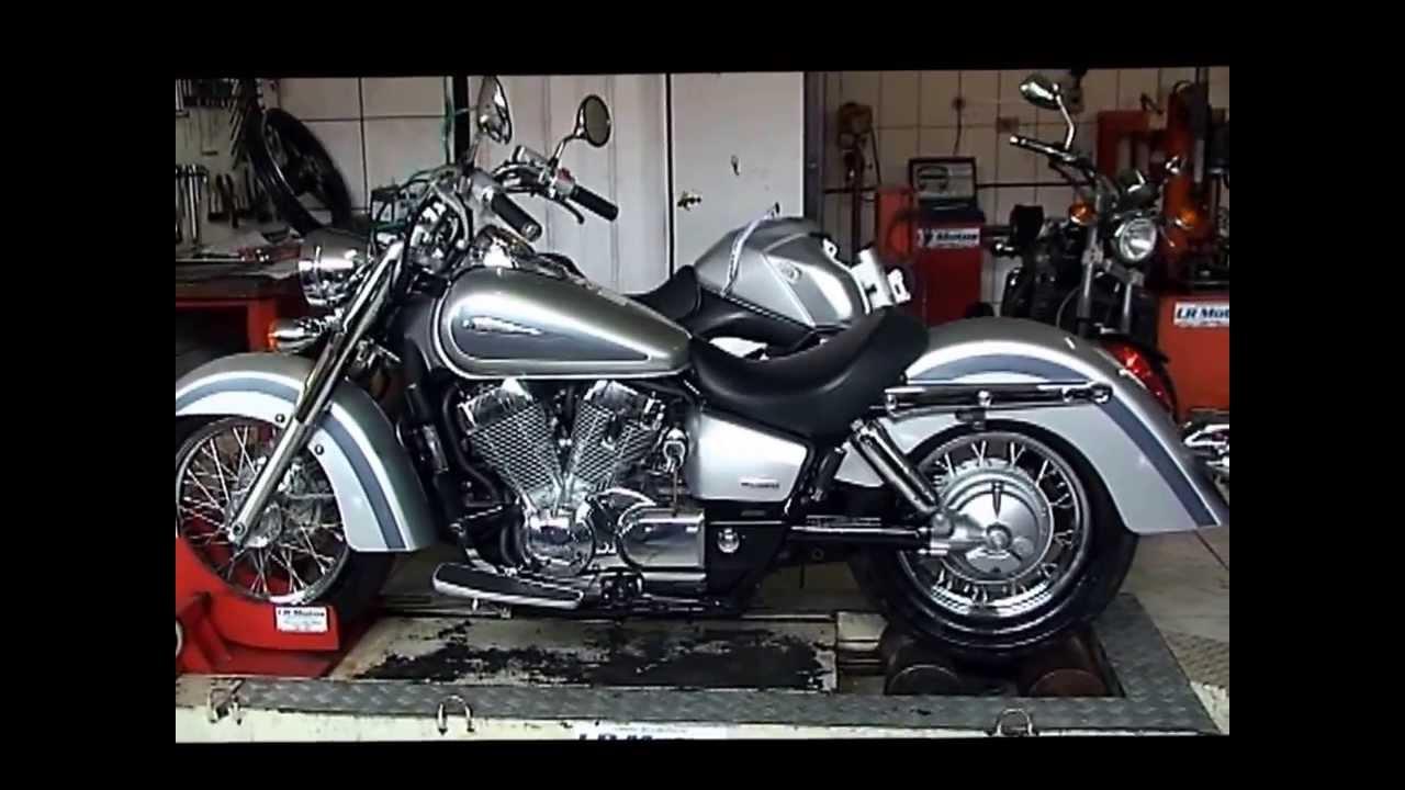 lr motos - honda shadow 750 prata no simulador de velocidade - 9040