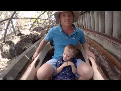 Dreamworld: Rocky Hollow Log Ride - Riley 3 years old (Reaction PoV)