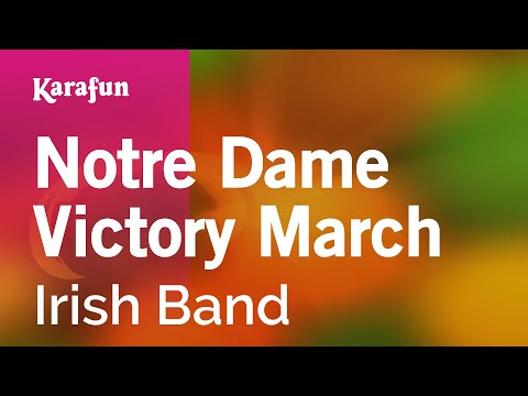 Karaoke Notre Dame Victory March - Irish Band *