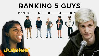 xQc Reacts to Ranking Men By Attractiveness | 5 Guys vs 5 Girls