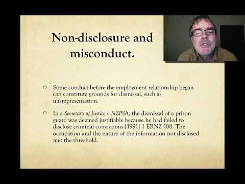 Employment Law   Misconduct