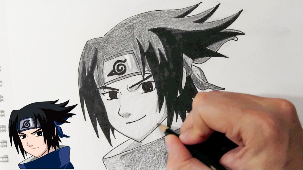 How to draw sasuke uchiha from naruto step by step youtube - Comment dessiner sasuke ...
