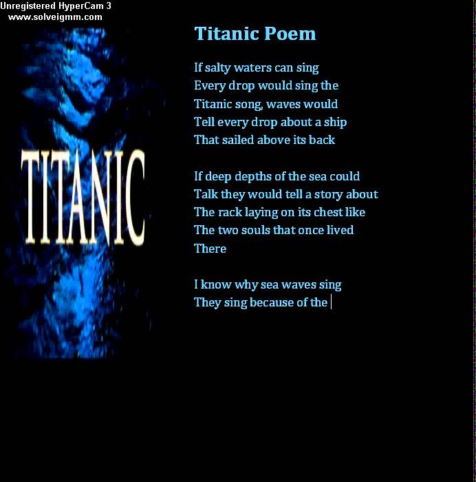 a comparison of the two poems titanic and fate Alliteration connotation any touch, taste, tang's repeating harsh consonant used to emphasize source of the memories that cause grief cacophony euphony and change is inevitable gross eating game represents cycle of life and death even in death you have a fate and change that you will need to.