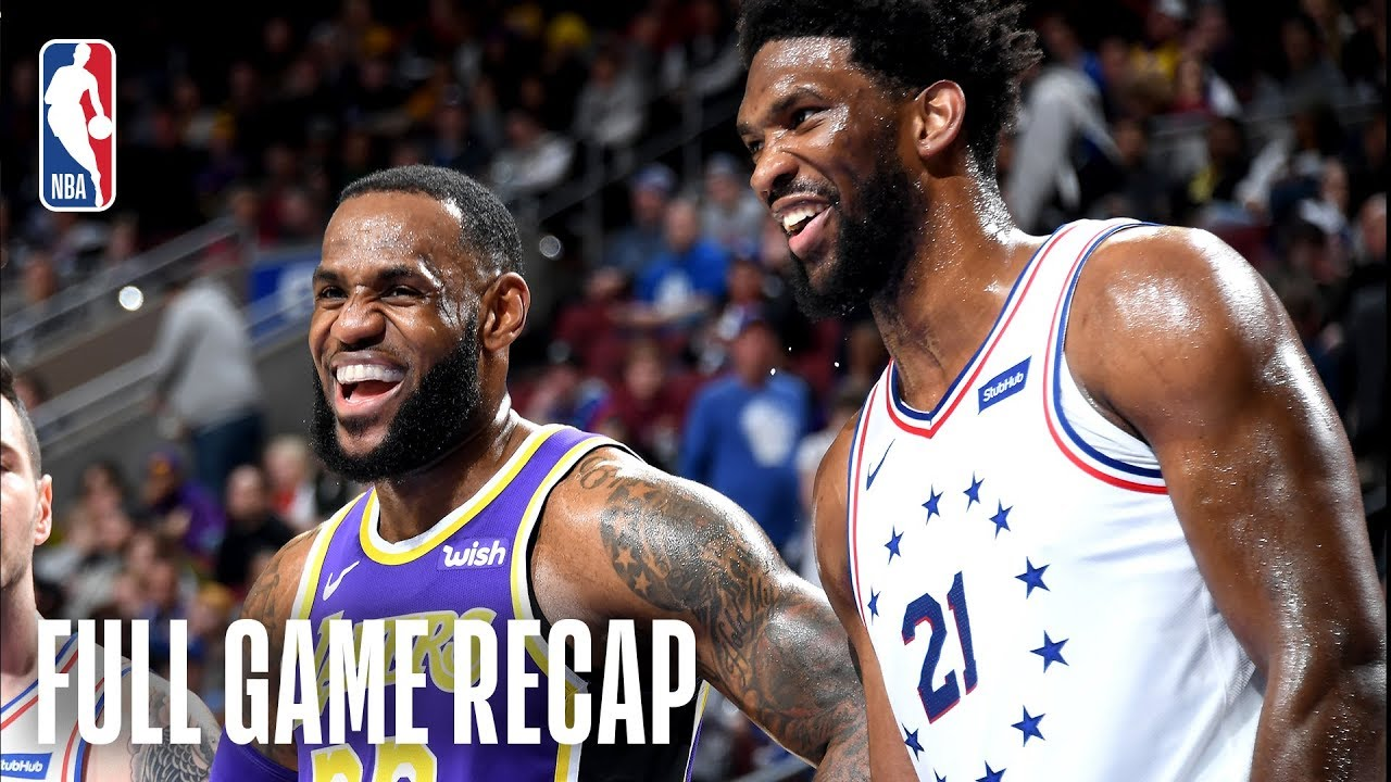 LAKERS vs 76ERS | Embiid Records 37 & 14 | February 10 ...