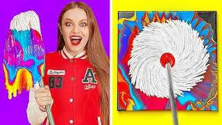 AWESOME ART IDEAS AND EASY DRAWING TRICKS || DIY Painting Hacks And Tricks by 123 GO!