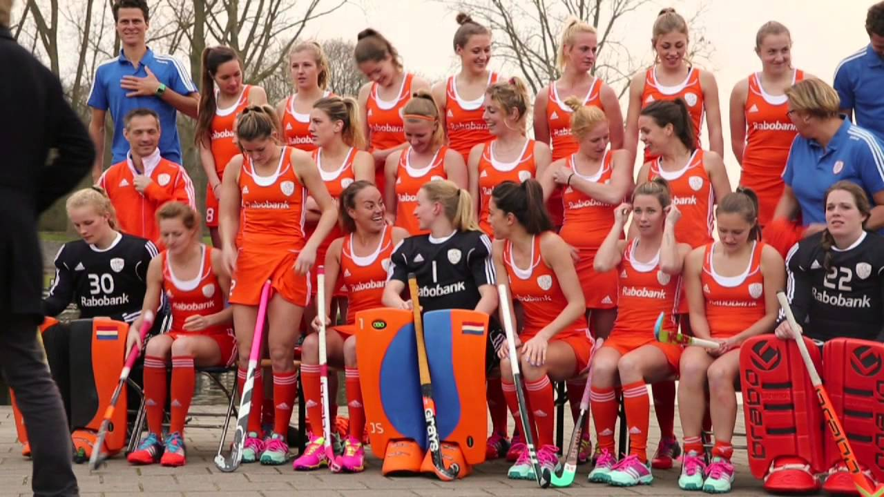 Nederlands Dames Elftal Making Of Teamfoto Nederlands Elftal Dames Hockey Nl