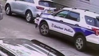 Video shows toddler run over by Boston police cruiser