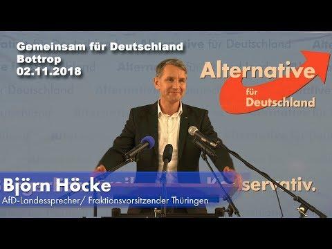"""Björn Höcke (AfD): Rede bei """"Gemeinsam für Deutschland"""" in Bottrop"""